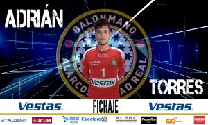Juventud y calidad a raudales, Adrián Torres llega a la portería del Vestas BM Alarcos